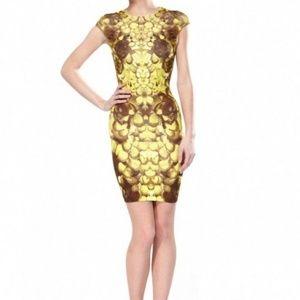 Alexander McQueen MCQ Rose Petal Bodycon dress XS